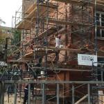Réfection d'un massif en briques